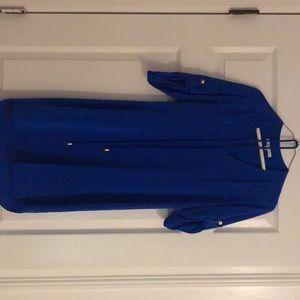 Beautiful silk blue Amanda Uprichard belted dress!